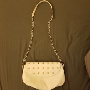 White spiked purse